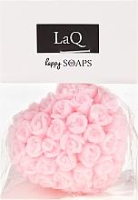 Kup Naturalne mydło ręcznie robione o zapachu wiśniowym Serce w różyczki - LaQ Happy Soaps