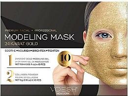 Kup Kojąca maska kolagenowa w płachcie 24-karatowe złoto - Voesh Facial Modeling Mask 24 Karat Gold