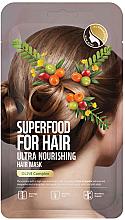 Kup Ultraodżywcza maska do włosów z ekstraktem z oliwek - Superfood For Skin Hair Mask With Olive Cloth