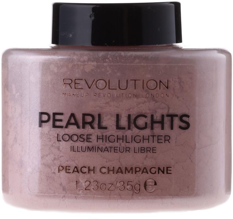 Sypki rozświetlacz do twarzy, 35 g - Makeup Revolution Pearl Lights Loose Highlighter