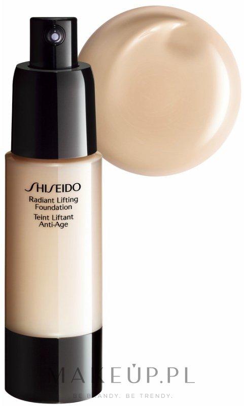 Podkład rozświetlająco-liftingujący - Shiseido Radiant Lifting Foundation Broad Spectrum SPF 17 — фото B00 - Beige Fair