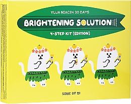 Kup Zestaw - Some By Mi Yuja Niacin 30 Days Brightening Solution (mask/30ml + ton/30ml + cr/25ml + ser/10ml)