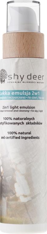 Lekka emulsja 2 w 1 do demakijażu i oczyszczania twarzy na dzień i noc - Shy Deer — фото N1