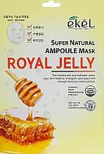 Kup Maska na tkaninie do twarzy Mleczko pszczele - Ekel Super Natural Ampoule Royal Jelly
