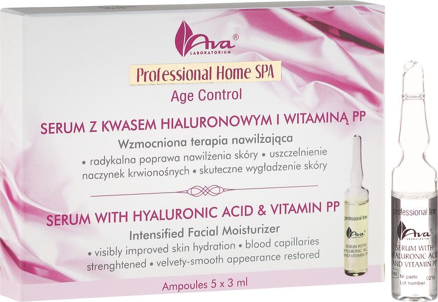 Serum do twarzy z kwasem hialuronowym i witaminą PP - AVA Laboratorium Professional Home SPA Age Control