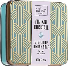 Kup Mydło do rąk i ciała w metalowej puszcze - The Scottish Fine Soaps Company Vintage Cocktail Mint Julep Luxury Soap