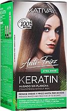 Kup Zestaw - Kativa Keratin Anti-Frizz Xtra Shine (h/mask/150ml + shmp/30ml + h/cond/30ml)