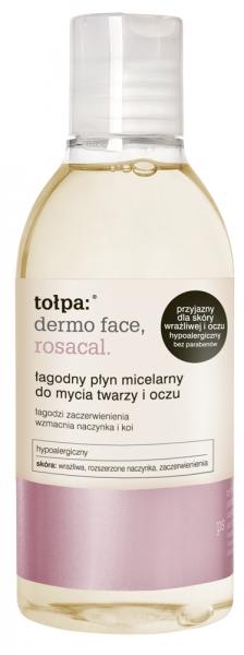 Łagodny płyn micelarny do mycia twarzy i oczu - Tołpa Dermo Face Rosacal