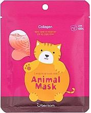 Kup Maseczka do twarzy w płachcie z kolagenem morskim - Berrisom Animal Mask Collagen Series Cat