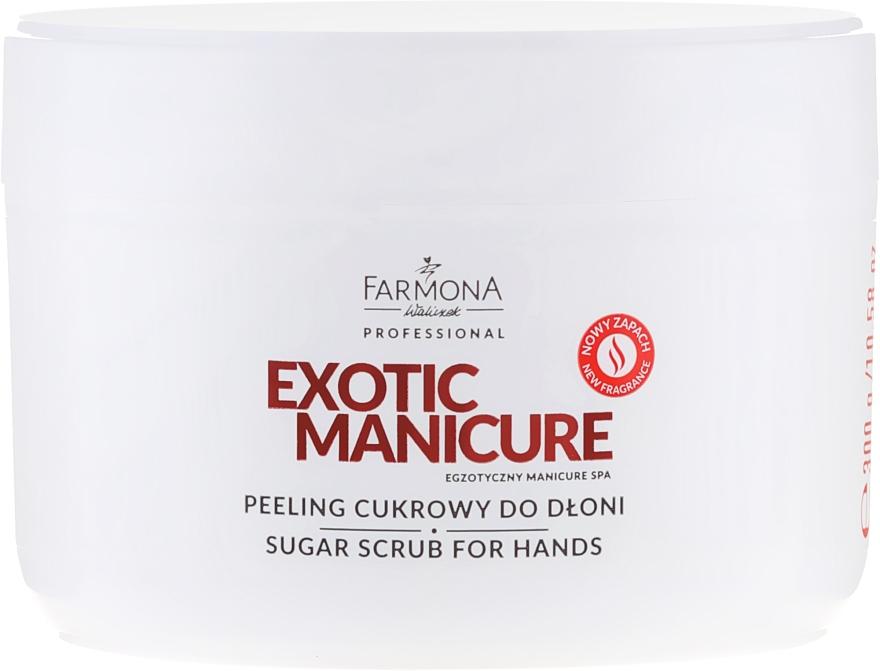 Peeling cukrowy do dłoni - Farmona Professional Exotic Manicure Egzotyczny Manicure Spa
