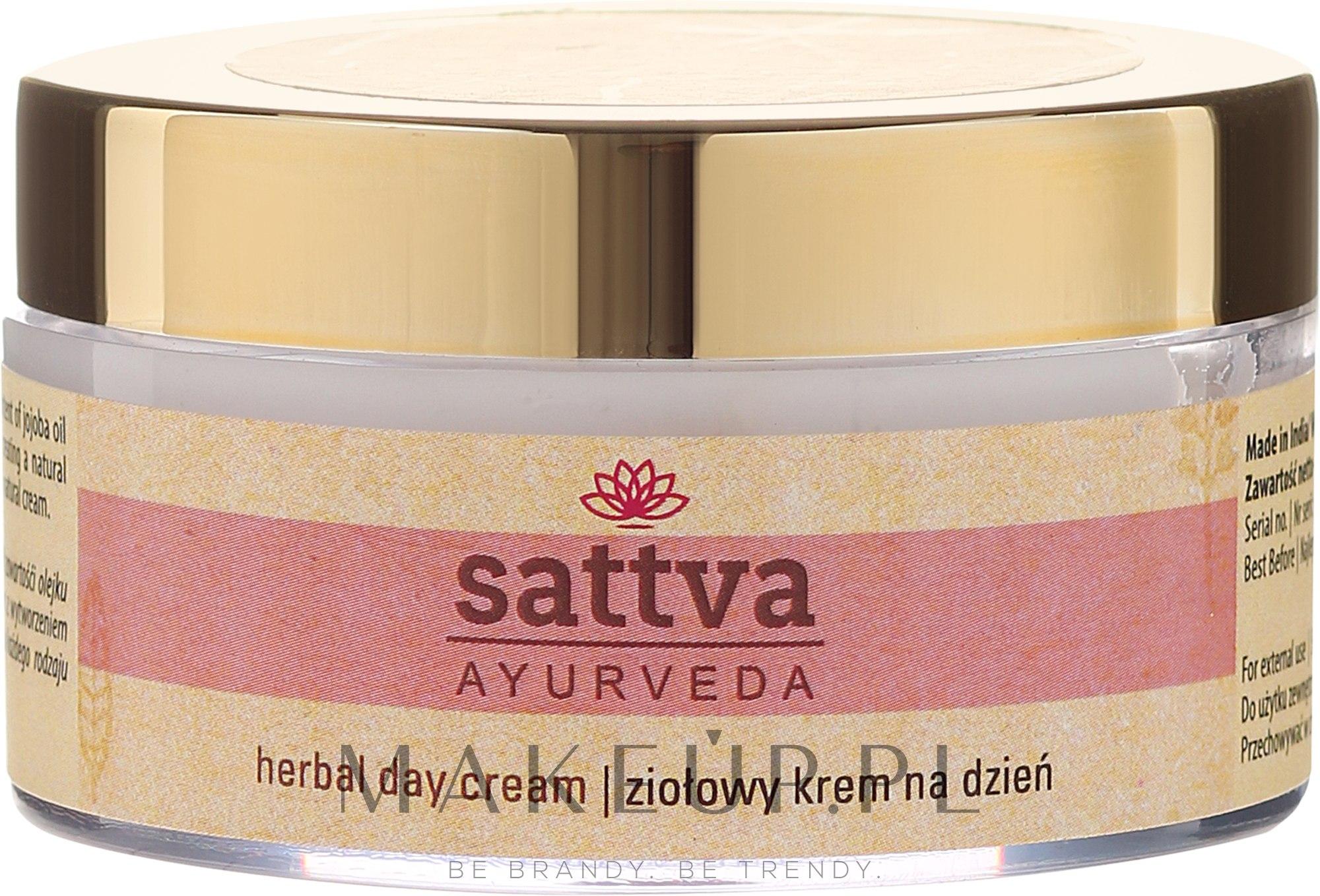 Ziołowy krem na dzień - Sattva Ayurveda — фото 50 g