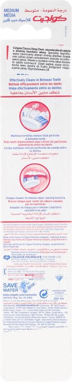 Szczoteczka do zębów średnio twarda, czerwona - Colgate Classic Deep Clean — фото N2