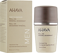 Kup Mineralny dezodorant w kulce - Ahava Time To Energize Men's Roll-On Mineral Deodorant