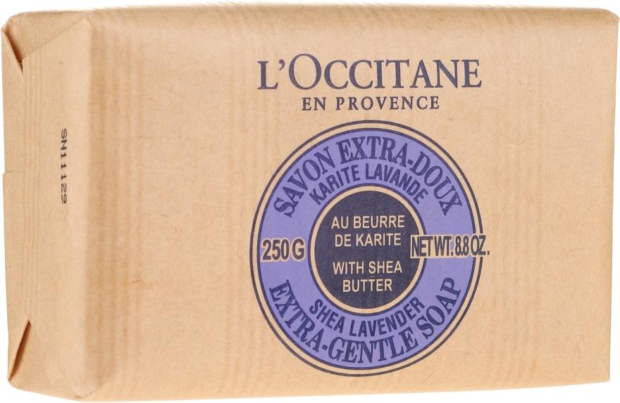 Lawendowe mydło Masło shea - L'Occitane Shea Butter Extra Gentle Soap-Lavender — фото N4