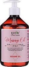 Kup Olejek do masażu z olejem sezamowym - Eco U