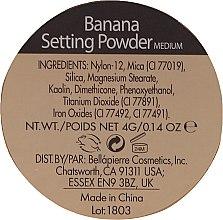 Bananowy puder do utrwalania makijażu - Bellapierre Cosmetics Banana Setting Powder — фото N3