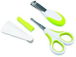 Kup Zestaw do pielęgnacji dziecka, limonkowy - Nuvita Baby Nail Care Kit (5 x n/file + scissors + pliers)