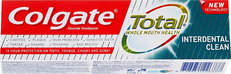 Pasta do zębów - Colgate Total Interdental Clean — фото N1