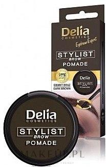 Pomada do brwi - Delia Stylist Brow — фото Dark Brown