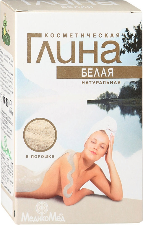 Naturalna kosmetyczna glinka biała - MedikoMed  — фото N1