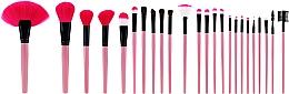 Zestaw profesjonalnych pędzli do makijażu, różowe, 24 szt. - Tools For Beauty — фото N1
