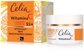 Liftingujący krem przeciwzmarszczkowy na dzień i noc Witamina C + ceramidy roślinne 55+ - Celia Witamina C