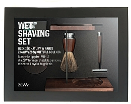 Kup PRZECENA! Zestaw dla mężczyzn Domowy Barbershop - Zew For (soap/85ml + razor/1psc + sh/brush/1pcs + sh/cup/1pcs + sh/stand/1pcs)*