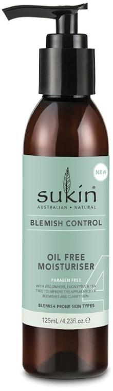 Nawilżający krem do twarzy - Sukin Blemish Control Oil Free Moisturiser — фото N1