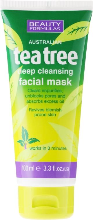 Głęboko oczyszczająca maska do twarzy Drzewo herbaciane - Beauty Formulas Tea Tree Deep Cleansing Facial Mask