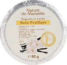 Kup Kostka musująca do kąpieli o zapachu magnolii i wanilii - Nature de Marseille Magnolias&Vanilla