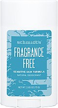 Kup Naturalny dezodorant bezzapachowy w sztyfcie do skóry wrażliwej - Schmidt's Fragrance Free Natural Deodorant