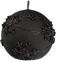 Kup Świeca dekoracyjna, czarna kula, 8 cm - Artman Snowflake Application