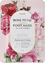 Kup Rozjaśniająca maska ujędrniająca do stóp - Petitfee&Koelf Rose Petal Satin Foot Mask