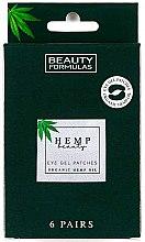 Kup Żelowe plastry pod oczy - Beauty Formulas Hemp Beauty Eye Gel Patches