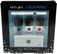 Kup Zestaw do french manicure - Cosmetic 2K Lets Get Colourful Set (polish/3x5ml + pencil/2g + file/1pc)