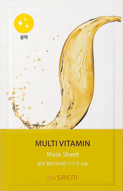 Multiwitaminowa maseczka w płachcie do twarzy - The Saem Bio Solution Radiance Multi Vitamin Mask Sheet — фото N1