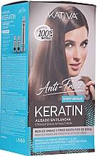 Kup Zestaw do keratynowego prostowania włosów - Kativa Anti-Frizz Straightening Without Iron Xpert Repair (h/mask 150 ml + shm 30 ml + h/cond 30 ml)