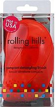Kup Kompaktowa szczotka do włosów, czerwona - Rolling Hills Compact Detangling Brush Red