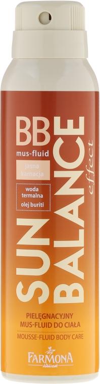 Pielęgnacyjny mus-fluid BB do ciała Jasna karnacja - Farmona Sun Balance Mousse Fluid Body Care