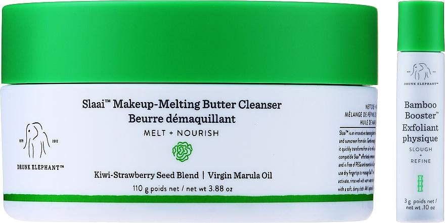Zestaw - Drunk Elephant Slaai Makeup-Melting Butter Cleanser (cleanser 110 g + booster 3 g) — фото N1