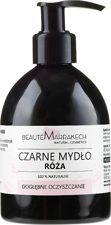 Różane czarne mydło w płynie z olejem arganowym - Beauté Marrakech Rose Black Liquid Soap  — фото N1