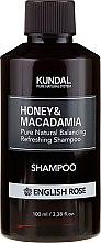 Kup Intensywnie nawilżający szampon proteinowy do włosów Angielska róża - Kundal Honey & Macadamia Shampoo