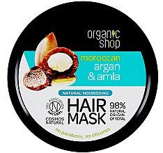 Kup Naturalna maska odżywcza do włosów Argan i amla - Organic Shop Argan And Amla Hair Mask