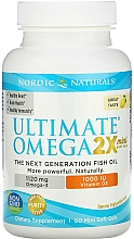 Kup Suplement diety Omega 2x+Witamina D3 o smaku cytrynowym - Nordic Naturals Omega 2X Mini With Vitamin D3