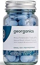 Kup Naturalne tabletki do płukania jamy ustnej Angielska mięta - Georganics Natural Mouthwash Tablets English Peppermint