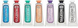 Kup Zestaw past do zębów - Marvis Toothpaste Flavor Collection Gift Set (7 x t/paste 25 ml)