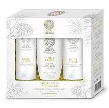 Kup Zestaw do włosów Biały cedr Biała Syberia - Natura Siberica Sibérie Blanche White Cedar Hair Care Kit (shm 250 ml + balm 250 ml + mask 200 ml)
