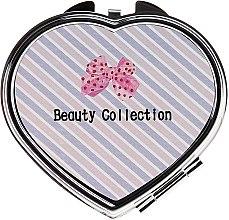Kup Lusterko kosmetyczne, 85628 Kompakt Serce, różowo-beżowe - Top Choice