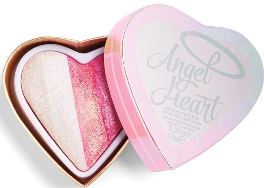 Wypiekana paletka rozświetlaczy do twarzy i oczu - I Heart Revolution Angel Heart