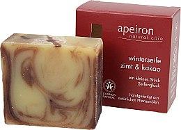 Kup Naturalne mydło, Cynamon i kakao - Apeiron Cinnamon & Cocoa Winter Soap